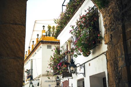 paisaje mediterraneo: Calle del barrio judío de Córdoba, España