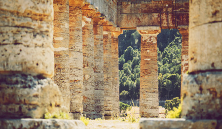 antik: The famous temple of Segesta in Sicily, Italy