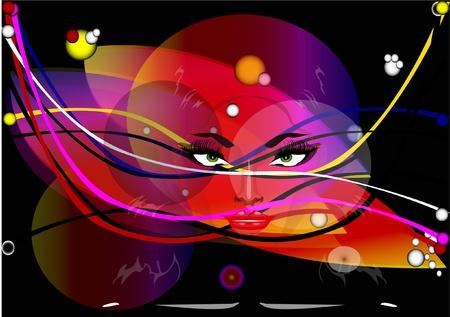 Eyes of the fairy Stock Vector - 10409305