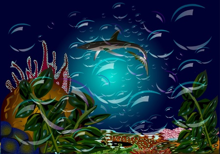 scientific literature: Shark. Background for  scientific literature.