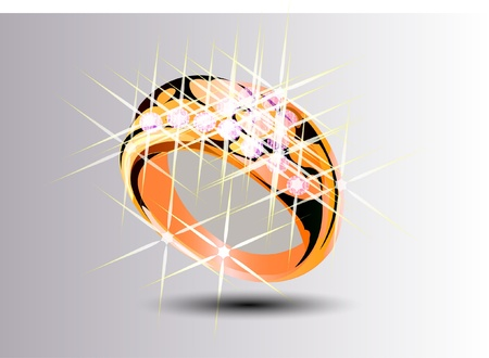brilliants: Ring with brilliants Illustration