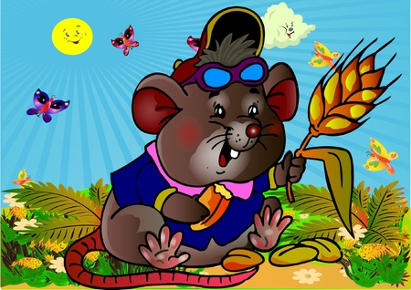 computer animation: Little mouse. Picture for  literature and computer animation. Vector
