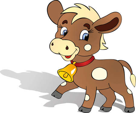 cow bells: funny bull