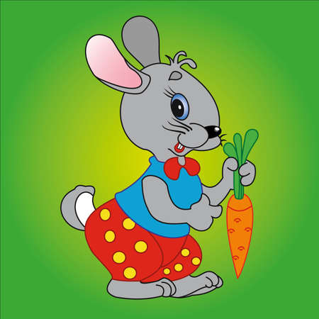 Bunny and carrot Vector