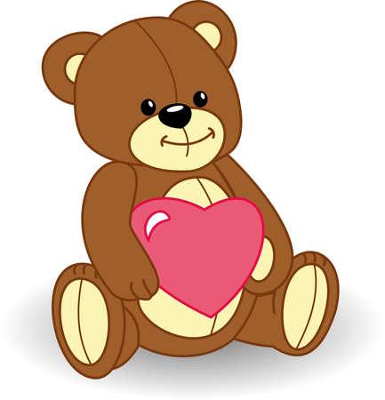 teddy bear cartoon: bear in love