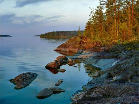Evening on Ladoga lake Stock Photo - 6280835
