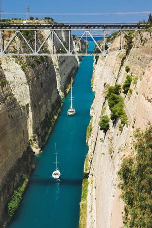 Channel in Corinth, Greece Stock Photo - 6280774