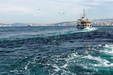 Bosphorus Strait in Istanbul Stock Photo