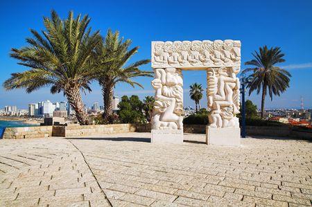 Arch in Jaffa, Israel Stock Photo