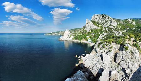 Crimea, the Black Sea coast, town Simeiz, Ukraine Stock Photo - 6297854