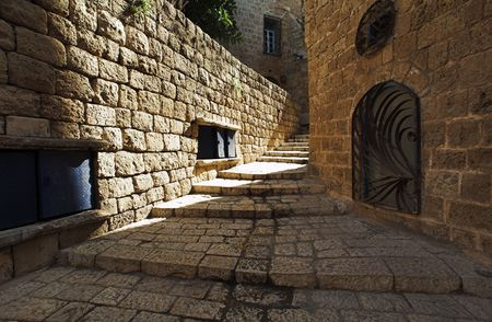 Street of old Jaffa, Israel photo