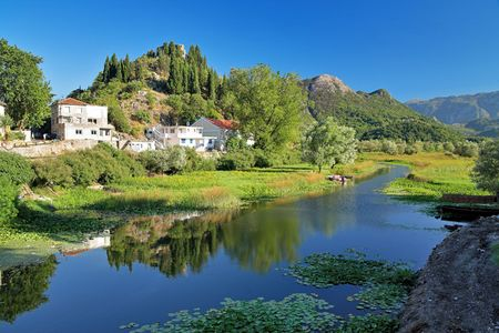 Backwater van Skadar Lake, Montenegro Stockfoto - 6370801