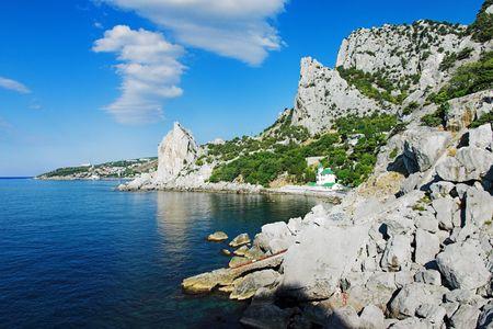 Black Sea coast near the town Simeiz, Crimea, Ukraine