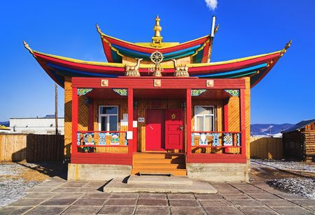 buryatia: Maanin-dugan in the Ivolginsky Datsan (buddhist monastery), Buryatia, Russia Stock Photo