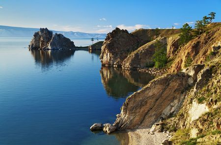 Cape Burhan and Shaman Rock on Olkhon Island at Baikal Lake, Russia Stock Photo - 6899702