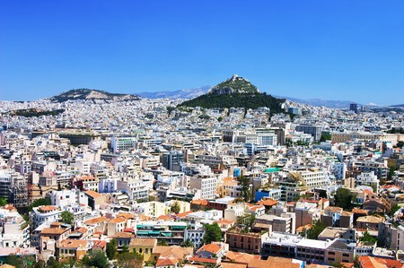 View from the Acropolis at Athens, Greece photo
