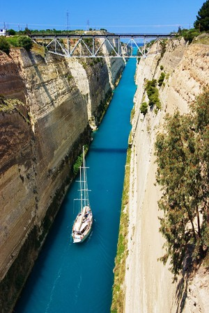 Channel in Corinth, Greece