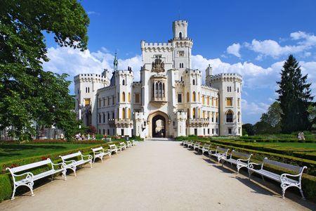 nad': Castle Hluboka nad Vltavou, Czech Republic Stock Photo
