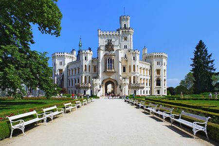 Kasteel Hluboka nad Vltavou, Tsjechië Stockfoto - 7166863