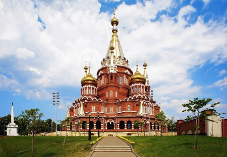 St. Michael cathedral in Izhevsk, Udmurtia, Russia photo