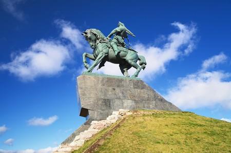 Monument of Salawat Yulaev in Ufa, Bashkortostan, Russia photo