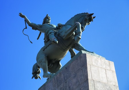 Monument of Salawat Yulaev in Ufa, Bashkortostan, Russia Stock Photo