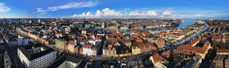 Large panorama of Copenhagen, Denmark
