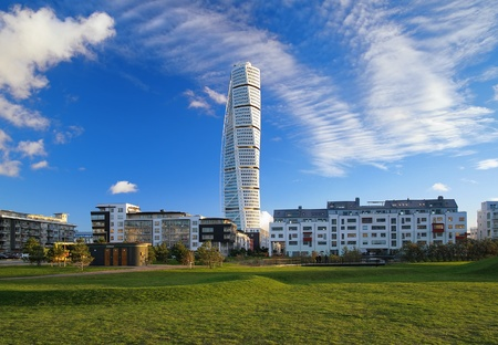 Turning Torso - wolkenkrabber in Malmö, Zweden