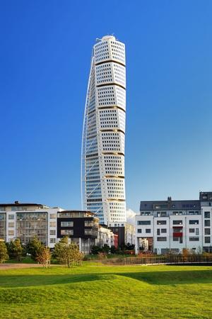 Turning Torso - Skyscraper in Malmö, Zweden Stockfoto - 8358694