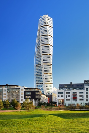 Turning Torso - Skyscraper in Malmö, Zweden Stockfoto
