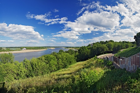 View of the Vyatka River from the high bank in the town Kirov, Russia Stock Photo - 8438004