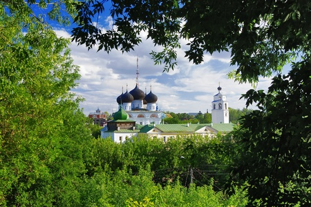 kirov: View of the Uspensky Trifonov monastery in the town Kirov, Russia Stock Photo