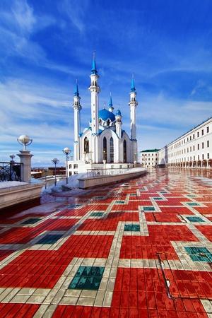 Qolsharif Mosque in Kazan Kremlin, Tatarstan, Russia photo