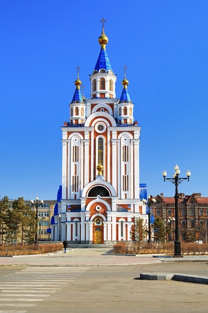 assumption: Cathedral of the Assumption of Blessed Virgin Mary in Khabarovsk, Russia