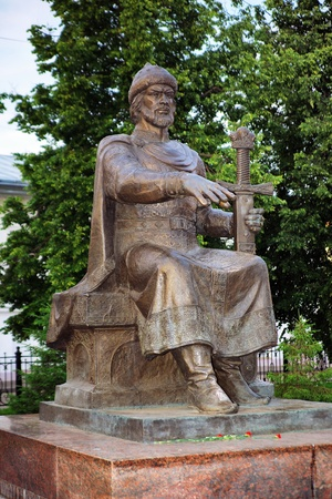 yuri: Monument to the city founder Grand Prince Yuri Dolgorukiy in Kostroma, Russia