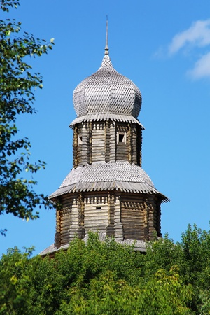 Spassky tower of Tomsk wooden Kremlin (reconstruction), Russia Stock Photo - 8728018