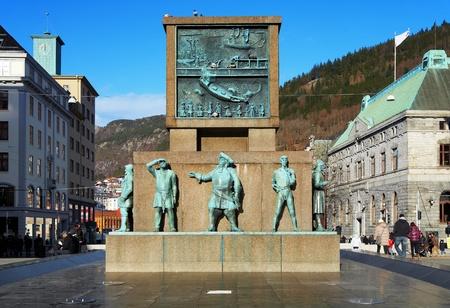 Monument to the sailors in Bergen, Norway Banco de Imagens