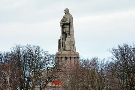 The Bismarck Monument (Bismarck-Denkmal) in Hamburg, Germany Stock Photo - 9261001