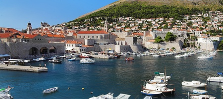 View of the Dubrovnik harbor, Croatia photo