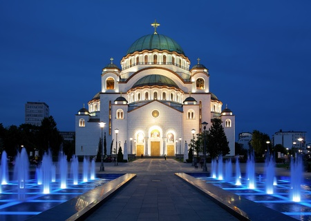 Cathedral of Saint Sava at evening, Belgrade, Serbia Stock Photo - 9667863