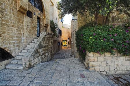 Straat van Jaffa oude stad, Israël Stockfoto