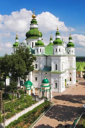 Cathedral in Eletskiy Assumption monastery in Chernigov, Ukraine photo