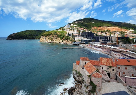 Budva coast and Old Town, Montenegro photo