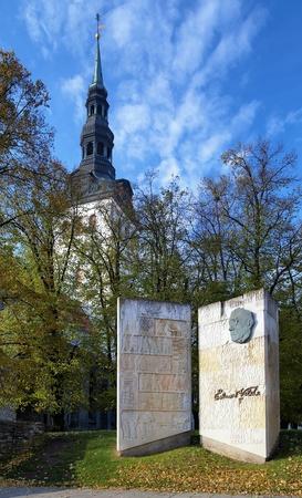 eduard: Monument to Estonian writer Eduard Vilde near the St. Mary
