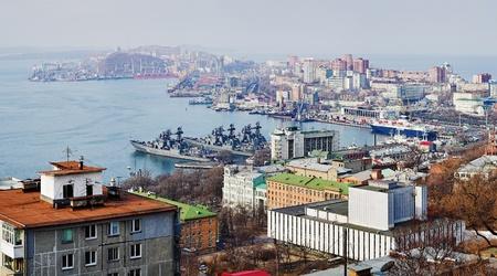 Panorama van Vladivostok. Rusland Stockfoto - 11351574
