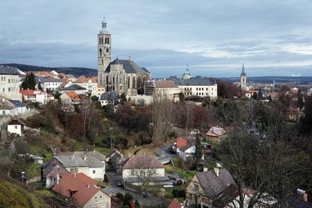 View on the Kutna Hora and church of St. James (kostel svateho Jakuba), Czech Republic Stock Photo - 11709196