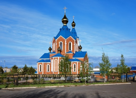 far east: Our Lady of Kazan Orthodox Cathedral in Komsomolsk-on-Amur, Far East, Russia Stock Photo