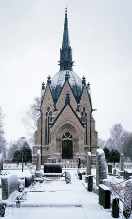 Juselius Mausoleum in Pori, Finland Stock Photo - 11964187
