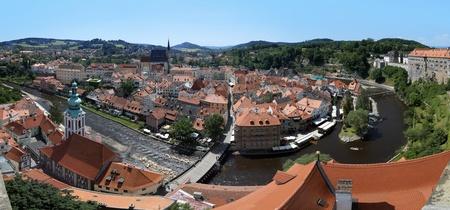 Panorama of Cesky Krumlov, Czech Republic photo