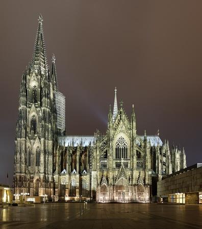 Cologne Cathedral in night illumination, Germany Reklamní fotografie